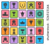 award icon set.vector black... | Shutterstock .eps vector #526515166
