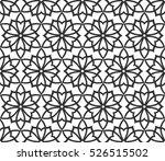 black and white ethnic  arabic  ... | Shutterstock .eps vector #526515502
