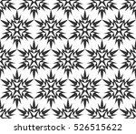 monochrome geometric seamless... | Shutterstock .eps vector #526515622