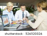 shot of a financial... | Shutterstock . vector #526520326