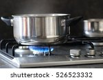pot stands on a stove   Shutterstock . vector #526523332