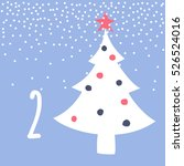 page advent calendar 25 days of ... | Shutterstock .eps vector #526524016