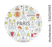 france and paris city concept.... | Shutterstock . vector #526524505
