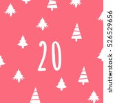 page advent calendar 25 days of ... | Shutterstock .eps vector #526529656