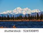 denali is the highest mountain... | Shutterstock . vector #526530895