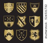 coat of arms silhouettes for... | Shutterstock .eps vector #526531732