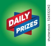 daily prizes arrow tag sign. | Shutterstock .eps vector #526532242