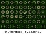 set fractal and swirl shape... | Shutterstock .eps vector #526535482
