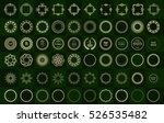 set fractal and swirl shape... | Shutterstock .eps vector #526535482