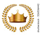 isolated crown design | Shutterstock .eps vector #526536442