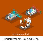 business meeting in an office... | Shutterstock . vector #526538626