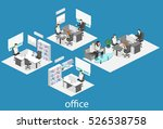 isometric interior of director... | Shutterstock . vector #526538758