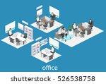 isometric interior of director... | Shutterstock . vector #526538758