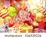 christmas. card with christmas... | Shutterstock .eps vector #526539226