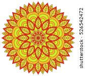 vector indian mandala | Shutterstock .eps vector #526542472