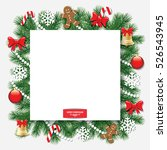 christmas decorative frame. | Shutterstock .eps vector #526543945