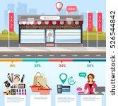 facade of fashion store ... | Shutterstock .eps vector #526544842
