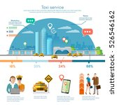 taxi service infographics on a... | Shutterstock .eps vector #526546162