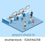 isometric flat 3d concept...   Shutterstock . vector #526546258