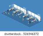 isometric flat 3d concept... | Shutterstock . vector #526546372