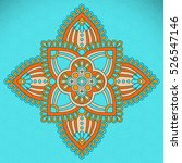vector indian mandala | Shutterstock .eps vector #526547146