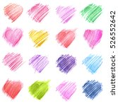 hand drawn sketch hearts for... | Shutterstock . vector #526552642