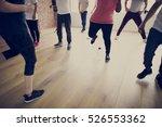 diversity people exercise class ... | Shutterstock . vector #526553362