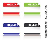 colourful paper tags with hello ... | Shutterstock .eps vector #52655395