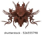 chocolate skull design isolated ... | Shutterstock . vector #526555798