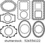 set of isolated antique frames | Shutterstock .eps vector #526556122