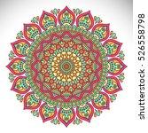 vector indian mandala | Shutterstock .eps vector #526558798