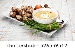 creamy mushroom soup  | Shutterstock . vector #526559512