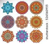 vector indian mandala | Shutterstock .eps vector #526560955