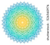 vector indian mandala | Shutterstock .eps vector #526560976