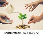 cooperation   hands helping... | Shutterstock . vector #526561972
