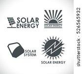 solar energy company logo set... | Shutterstock .eps vector #526565932