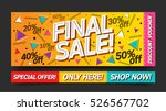 final sale website banner... | Shutterstock .eps vector #526567702