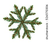 christmas icon  tree snowflakes ... | Shutterstock . vector #526570306