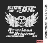 t shirt print design. skull... | Shutterstock .eps vector #526571035