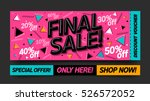 final sale website banner... | Shutterstock .eps vector #526572052