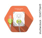 electric outlet type b vector... | Shutterstock .eps vector #526573645