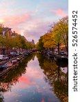 epic evening over beautiful... | Shutterstock . vector #526574452