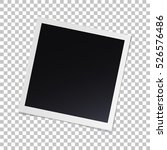 photo frame with shadow on... | Shutterstock .eps vector #526576486