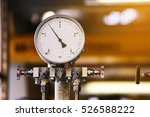 pressure gauge in oil and gas... | Shutterstock . vector #526588222