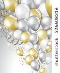 Silver And Gold Balloons And...