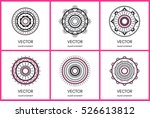 collection of 6 simple round... | Shutterstock .eps vector #526613812