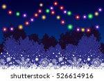night christmas winter blue... | Shutterstock . vector #526614916