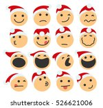 st claus icons set | Shutterstock .eps vector #526621006