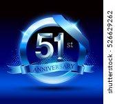 celebrating 51 years... | Shutterstock .eps vector #526629262
