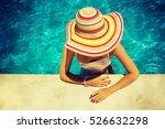 beautiful young woman relaxing... | Shutterstock . vector #526632298